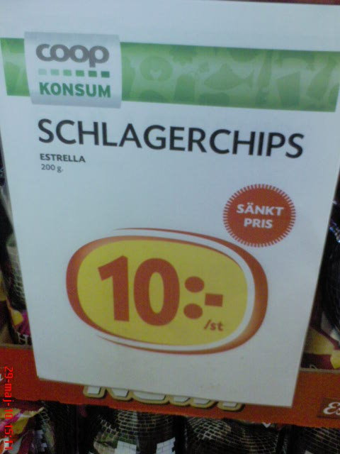 schlagerchips - smakar nederlag